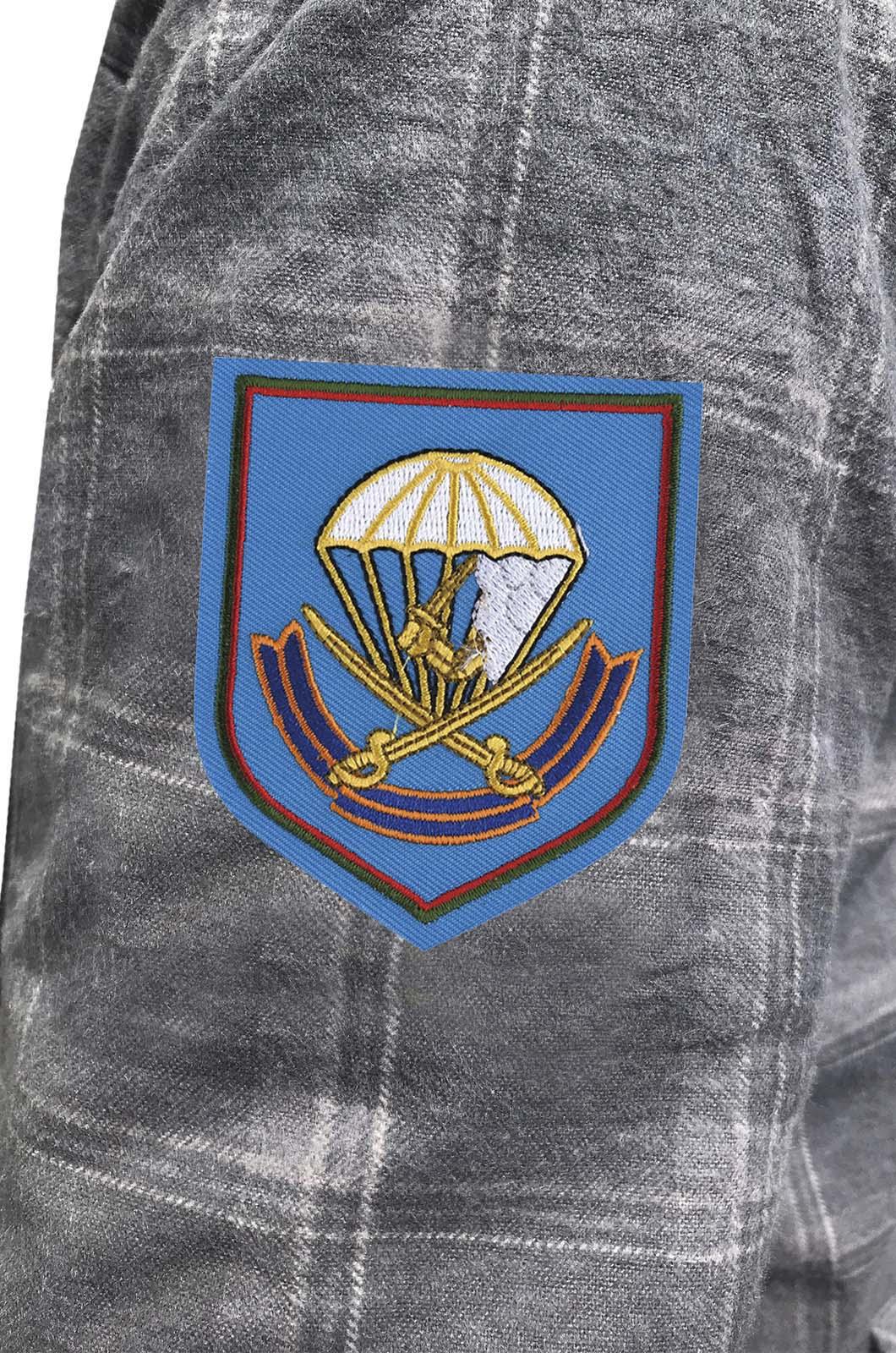 Теплая рубашка с вышитым шевроном 217 ПДП ВДВ - купить выгодно