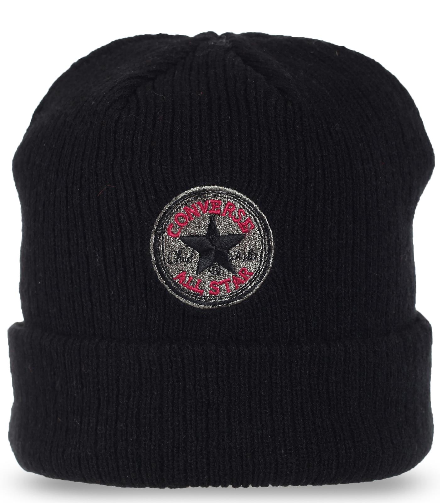 Теплая шапка Converse All Star для брутальных парней. Надежно согреет в любую погоду. Заказывай уверенно!