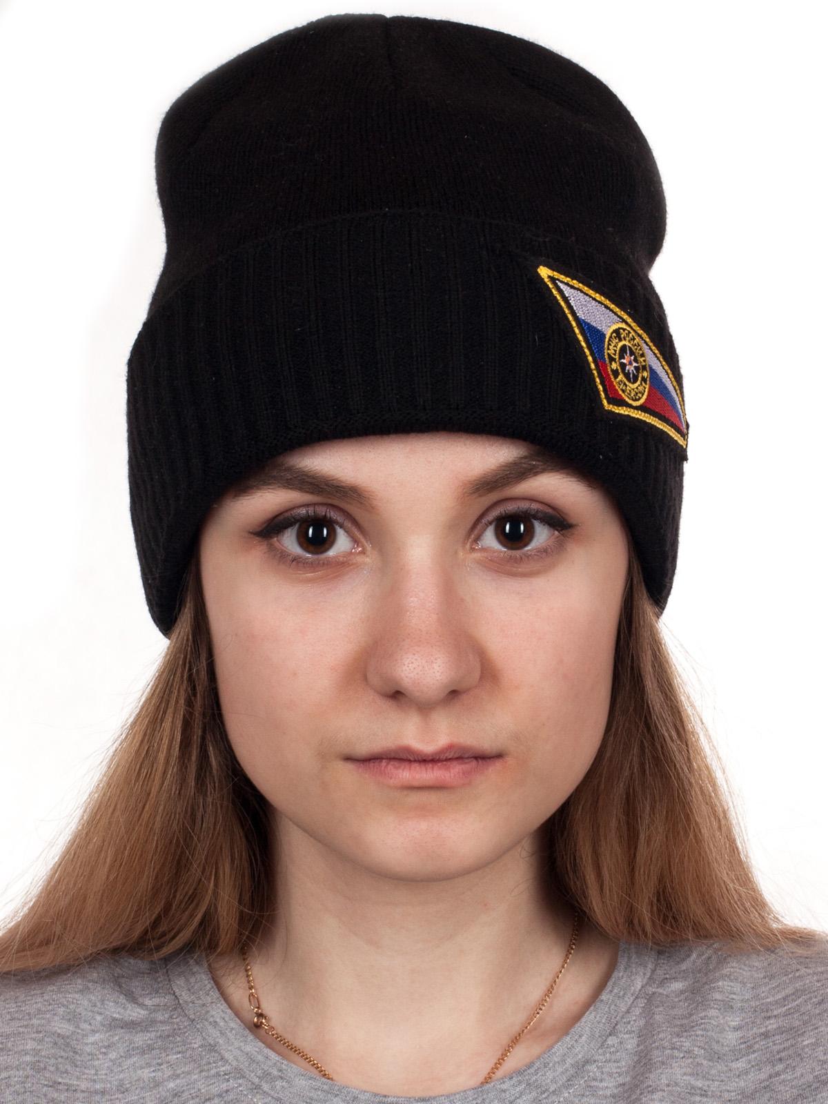 Теплая шапка для сотрудниц МЧС России высокого качества