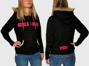 Теплая женская толстовка Girls with guns