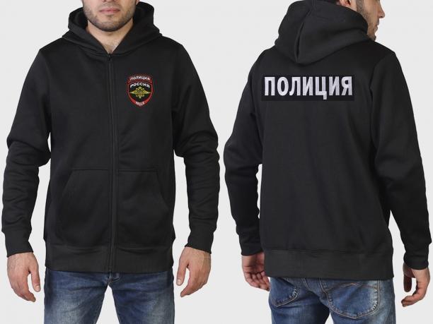Теплая толстовка с нашивкой Полиция России