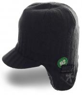 Теплая зимняя шапка с козырьком от Barts привлекательная модель
