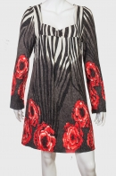 Теплое платье А-силуэта бренда AFIVA.