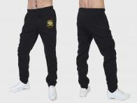 Теплые черные спортивные штаны ВМФ