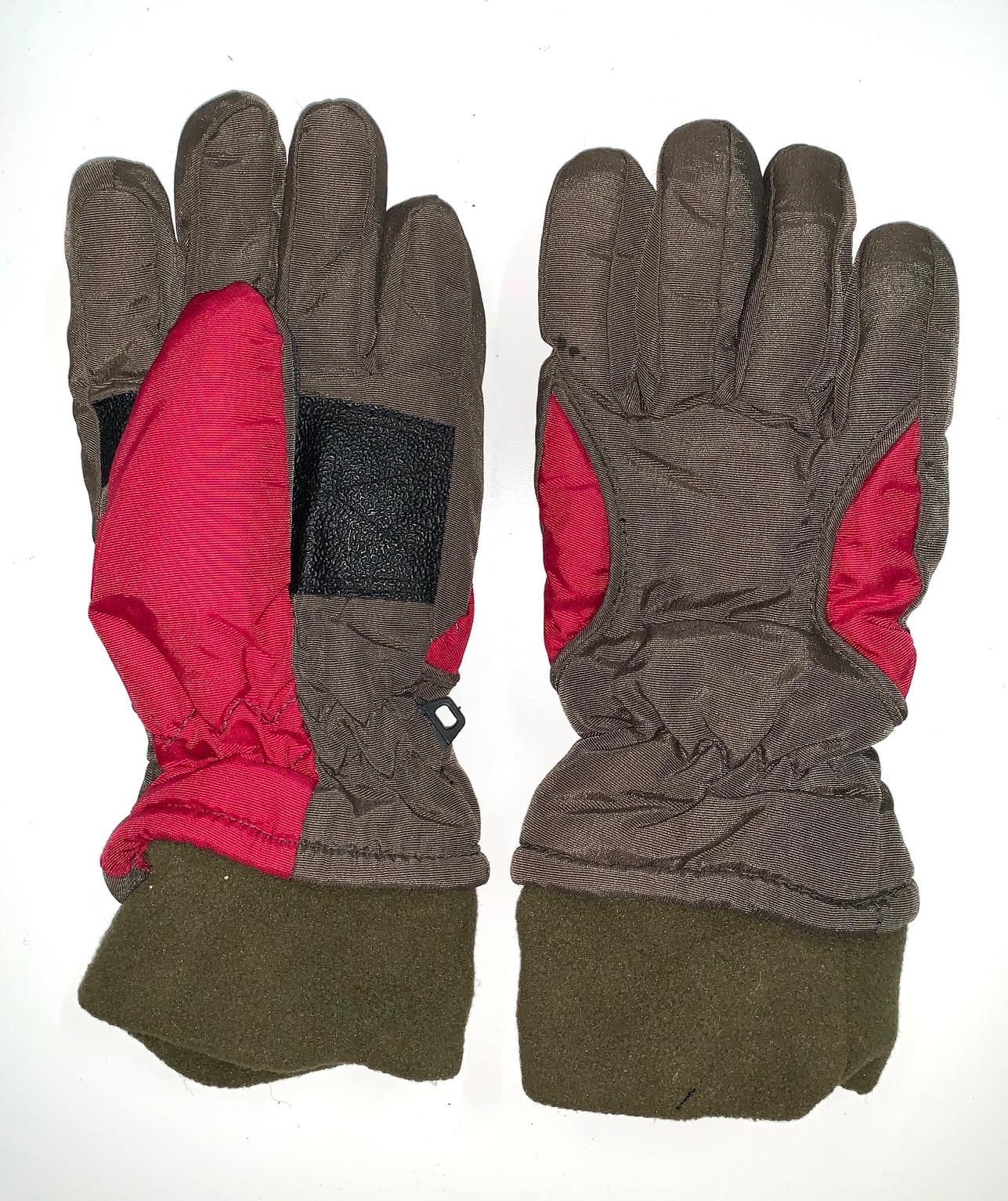 Теплые детские перчатки с манжетами