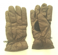 Теплые коричневые перчатки