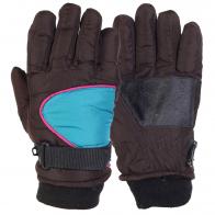 Теплые детские перчатки с манжетой
