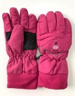 Теплые перчатки розового цвета