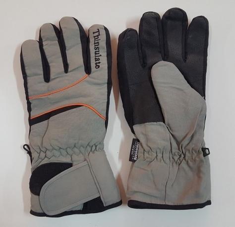 Теплые серо-черные перчатки от Thinsulate