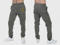 Теплые серые спортивные штаны ФСБ