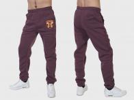 Теплые мужские штаны на флисе с шевроном Росгвардии.