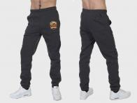 Теплые спортивные серые штаны для охотника