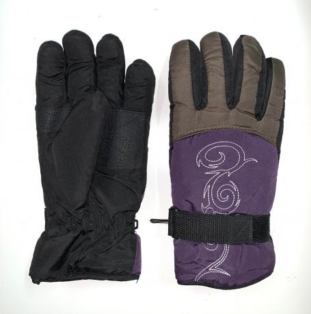 Теплые зимние перчатки с оригинальной вышивкой