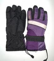 Теплые зимние перчатки с яркими вставками