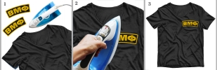 Термоклеевая нашивка ВМФ на футболке
