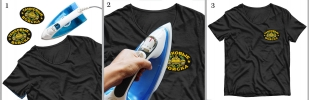 Термоклеевый шеврон танкиста на футболке