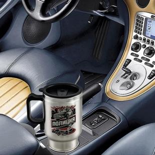 Автомобильная термокружка Полиция