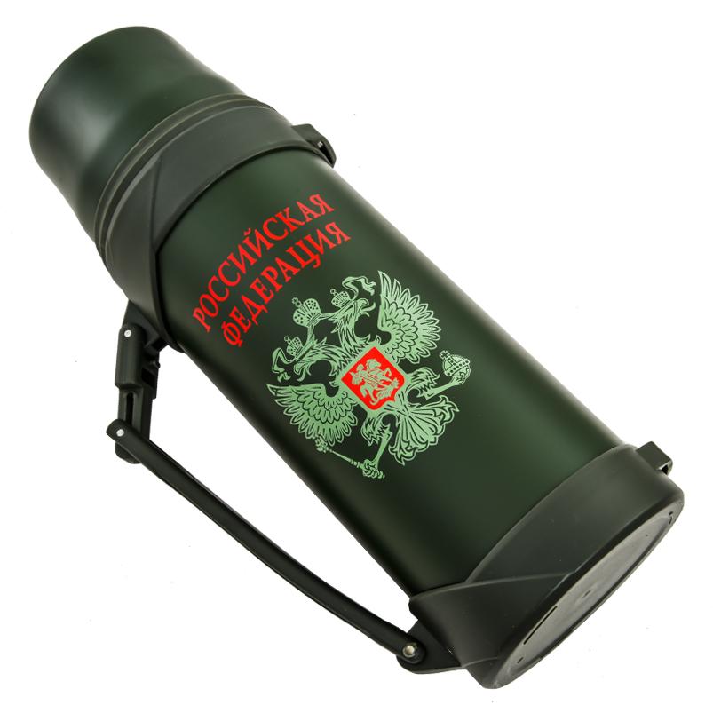 Купить термос с гербом России объемом 1200 мл