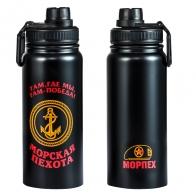 Черный термос Морская Пехота