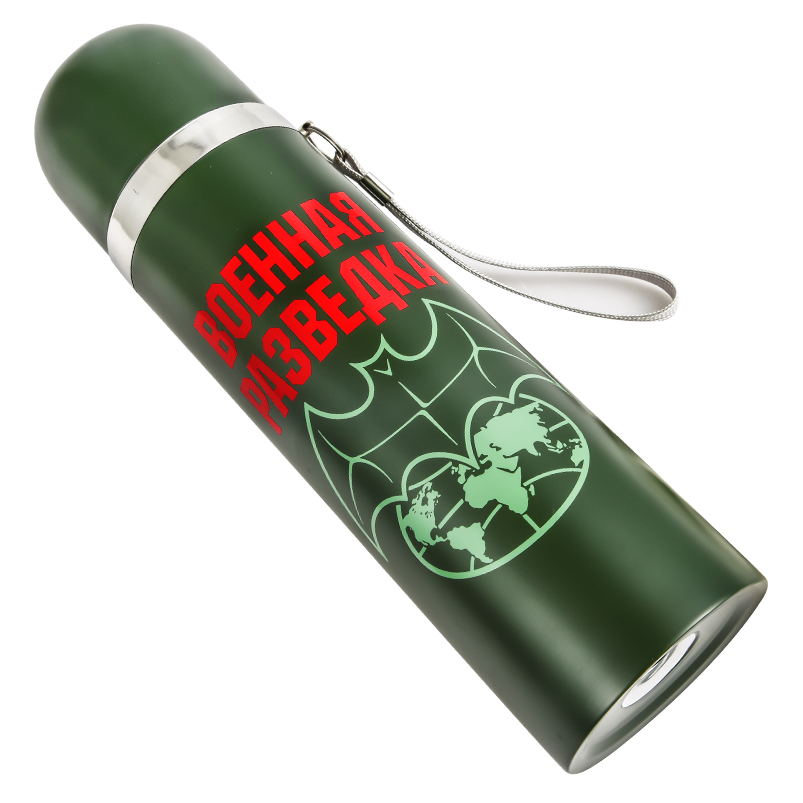 Термос на 0,5 литра на подарок разведчику