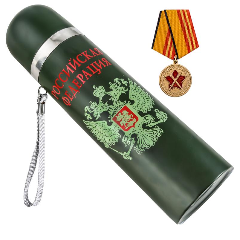 Купить в интернет магазине термос на 0,5 литра с гербом России