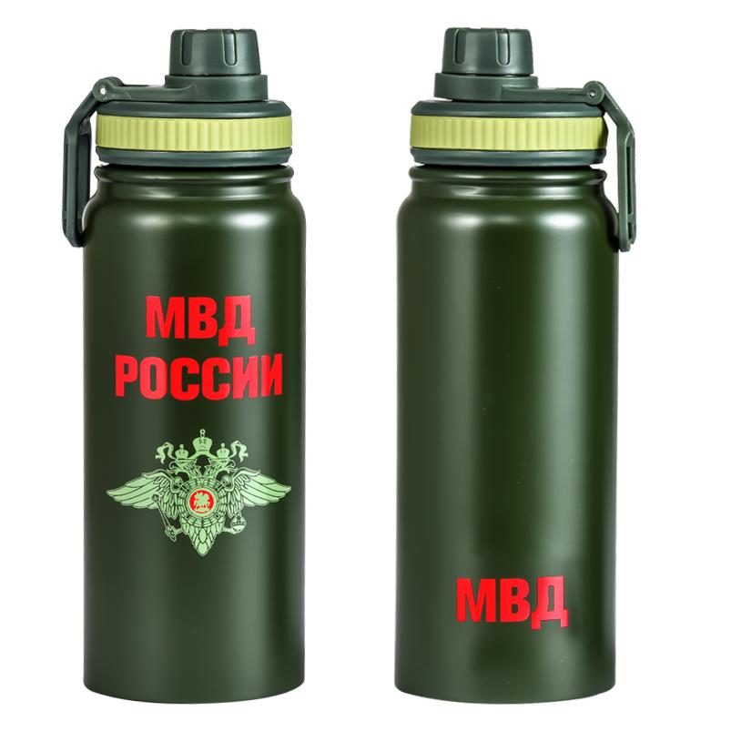 Термос с эмблемой МВД