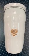 Термостакан с золотистым гербом России