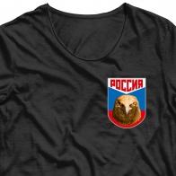 Термотрансфер Россия с орлом
