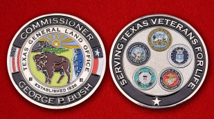 "Texas General Lаnd Office ""Serving Texas Veterans"" By George P. Bush Challenge Coin"