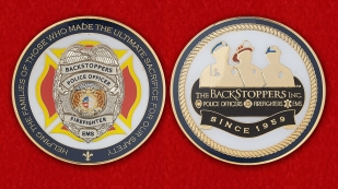 The BackStoppers Inc Challenge Сoin - obverse and reverse