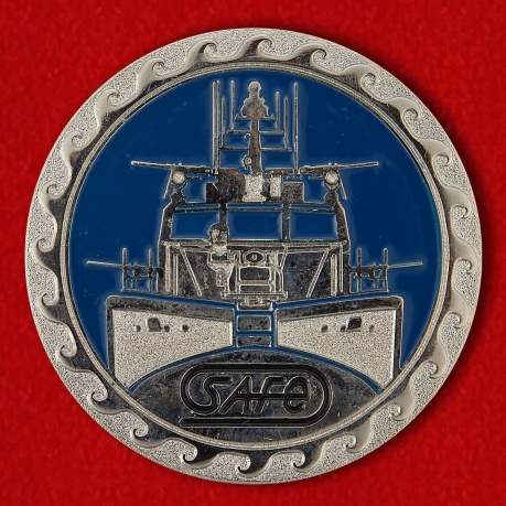 The patrol boat Mark-IV of the US Navy Challenge Coin