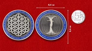 The Paul Santisi Intention Energy Challenge Coin - comparative size