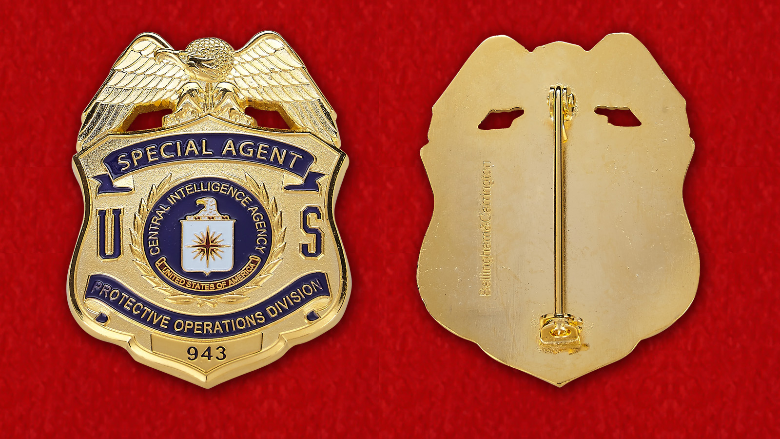CIA Special Agent Badge - obverse and reverse