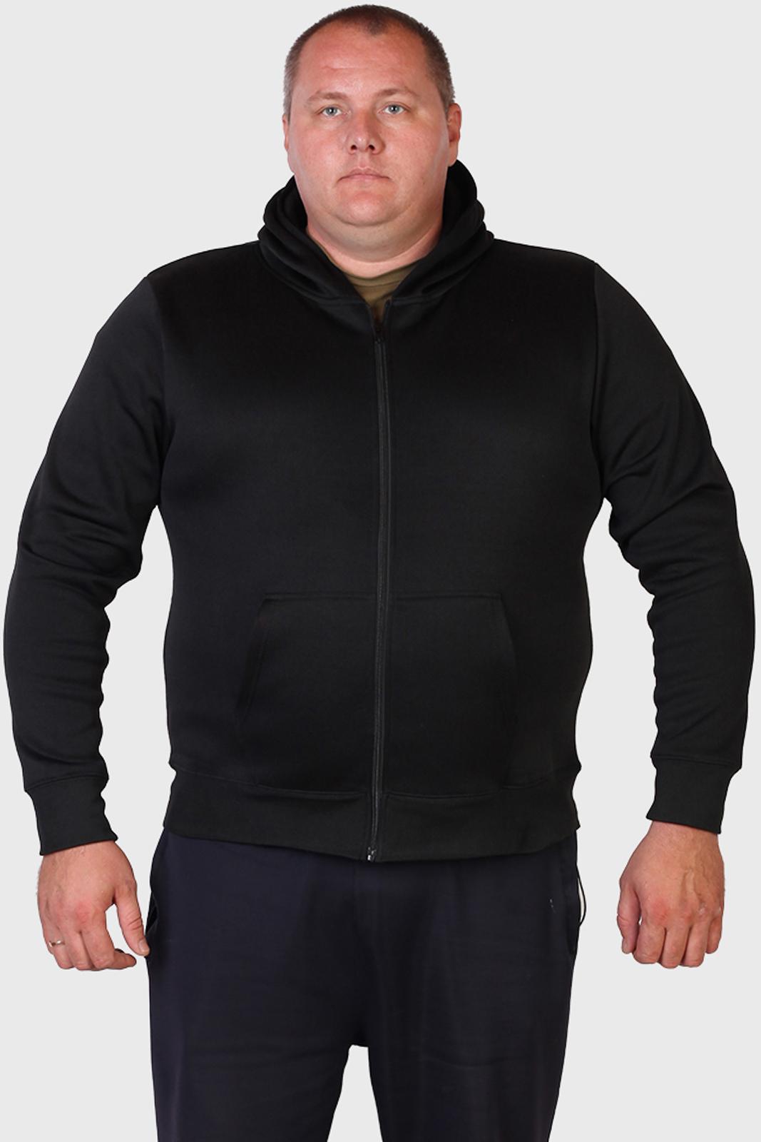 Черная мужская толстовка на молнии