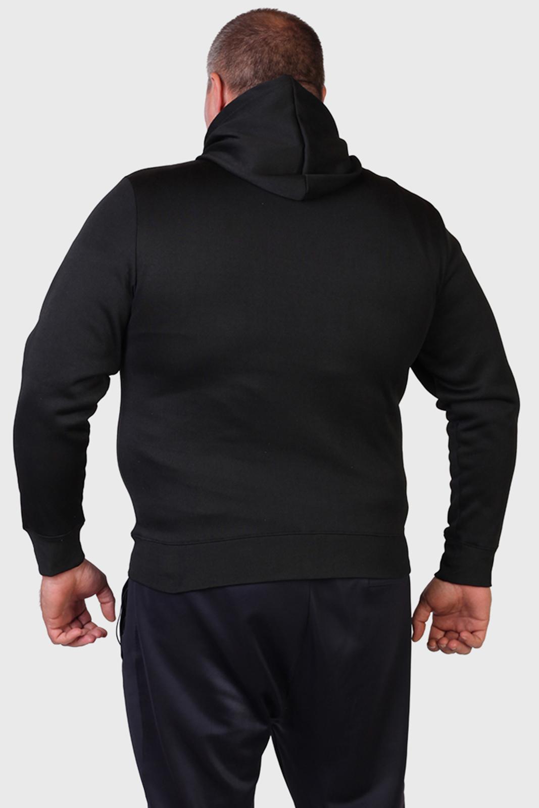Черная толстовка без заморочек с шевроном Спецназа ГРУ.