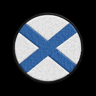 Черная стильная толстовка Гордый Андреевский Флаг