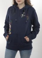 Теплая женская толстовка hoodie от ТМ Disney Parks с затягивающимся на шнурке капюшоном. Прямой крой оверсайз с накладными карманами. Классика стиля кэжуал