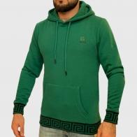Зеленая мужская толстовка худи K.R.E.A.M.