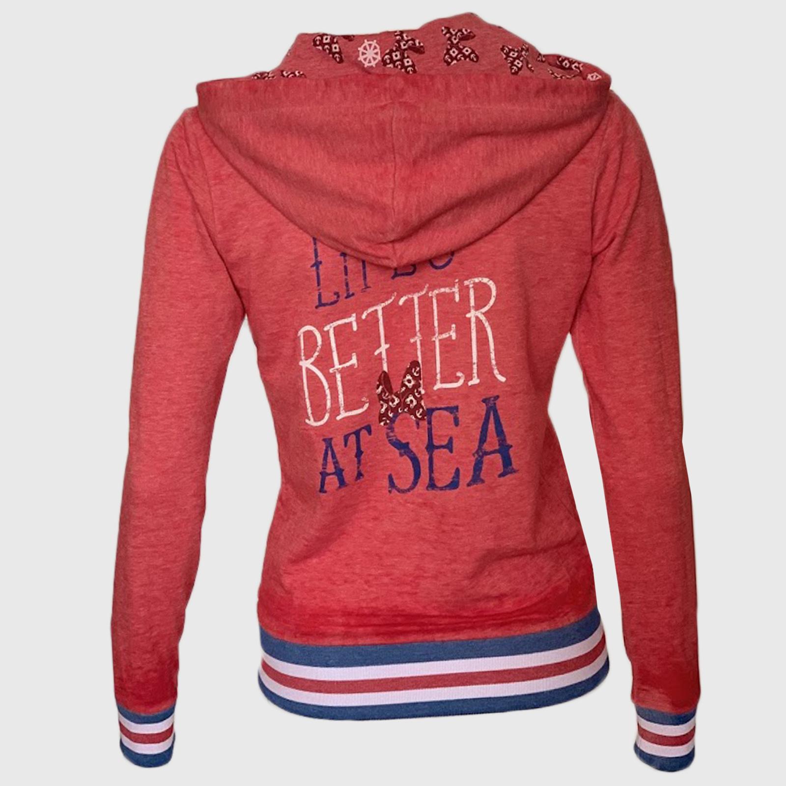 Красная женская толстовка с карманами – лучшая цена каталога