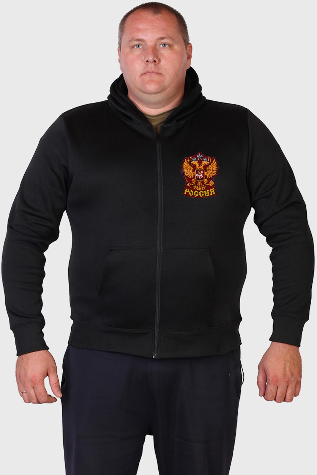 Купить на сайте Военпро толстовку с вышивкой Россия