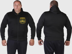 Мужская толстовка на молнии ТАНКОВЫЕ ВОЙСКА.