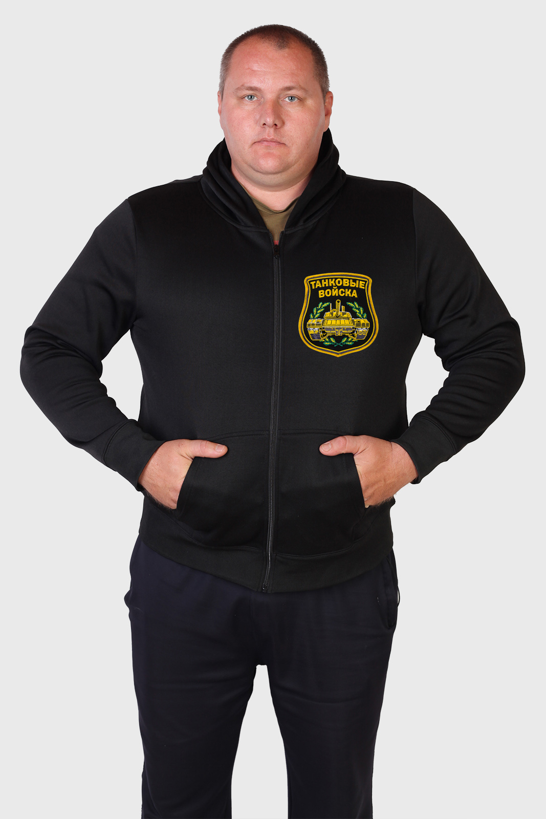 Купить мужскую толстовку с танковой символикой