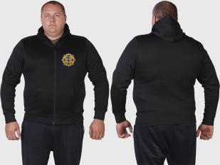 Стильная толстовка с шевроном Полиция России.