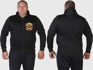 Душевная толстовка с цветной вышивкой Русская Охота.
