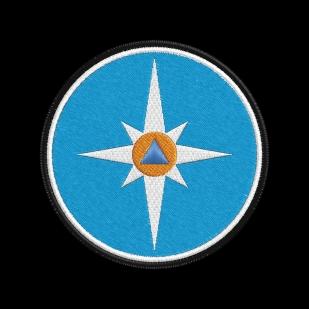 Толстовка с малой эмблемой МЧС – Белая звезда надежды и спасения.