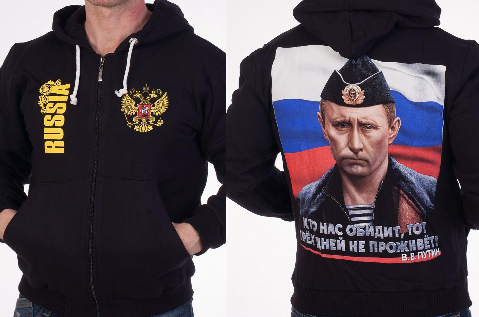 Толстовка с фото Путина - общий вид
