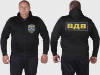 Мужская толстовка с капюшоном и символикой ВДВ.