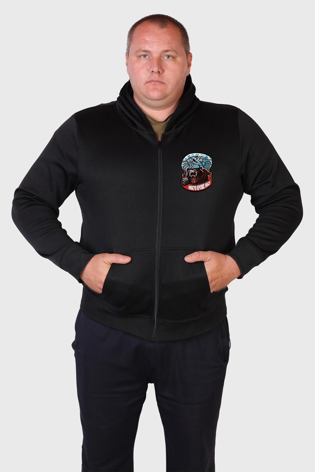 Мужская толстовка ВДВ с мощной  десантной эмблемой.