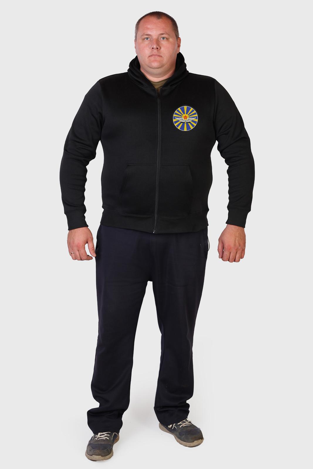 Мужская черная толстовка с символикой ВВС СССР