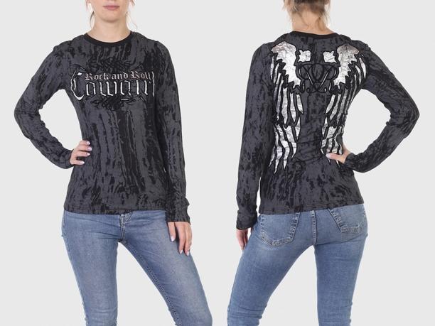 Тонкий женский свитер-пуловер Rock and Roll Cowgirl